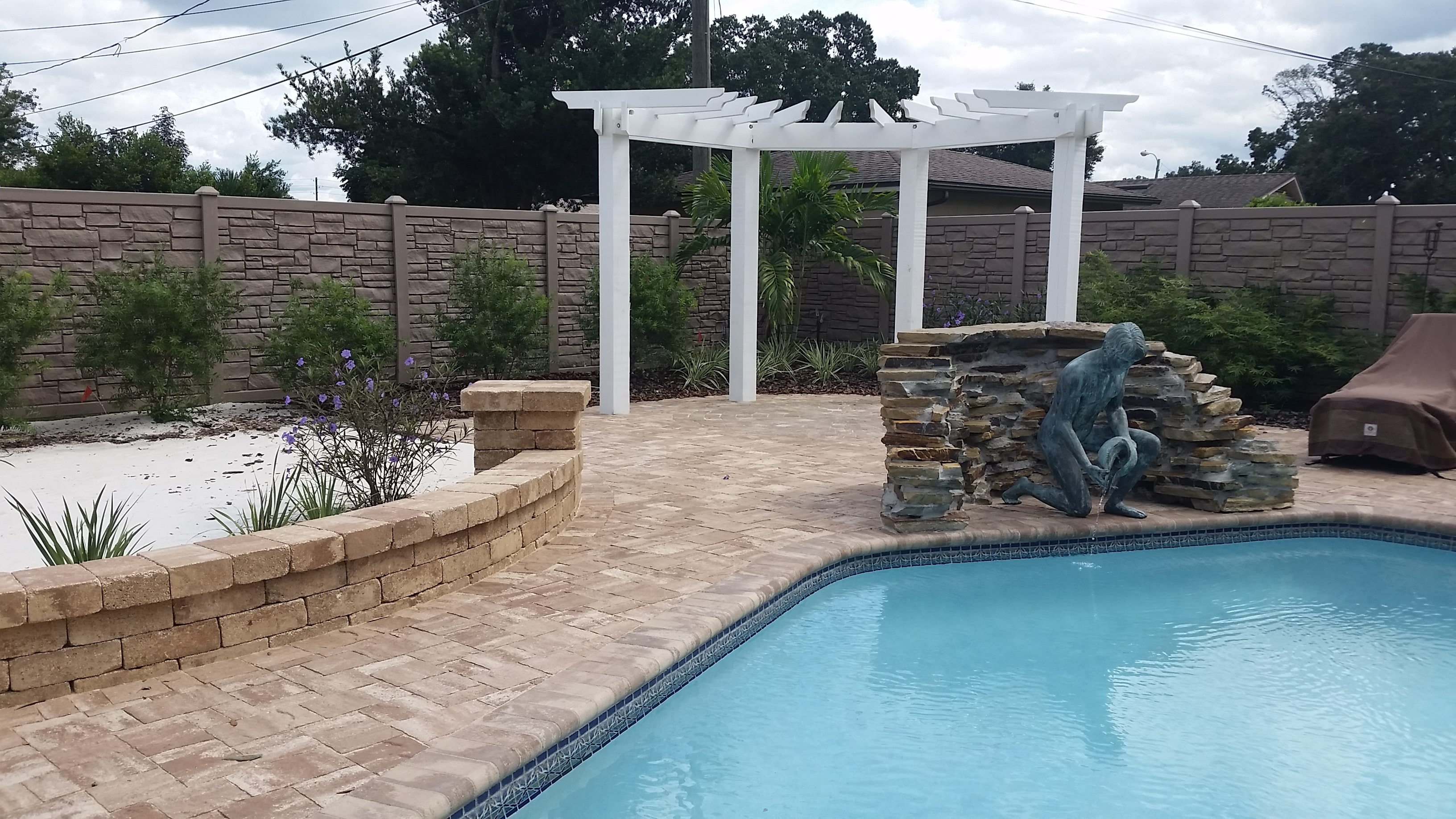 swimming pool incorporating landscape design