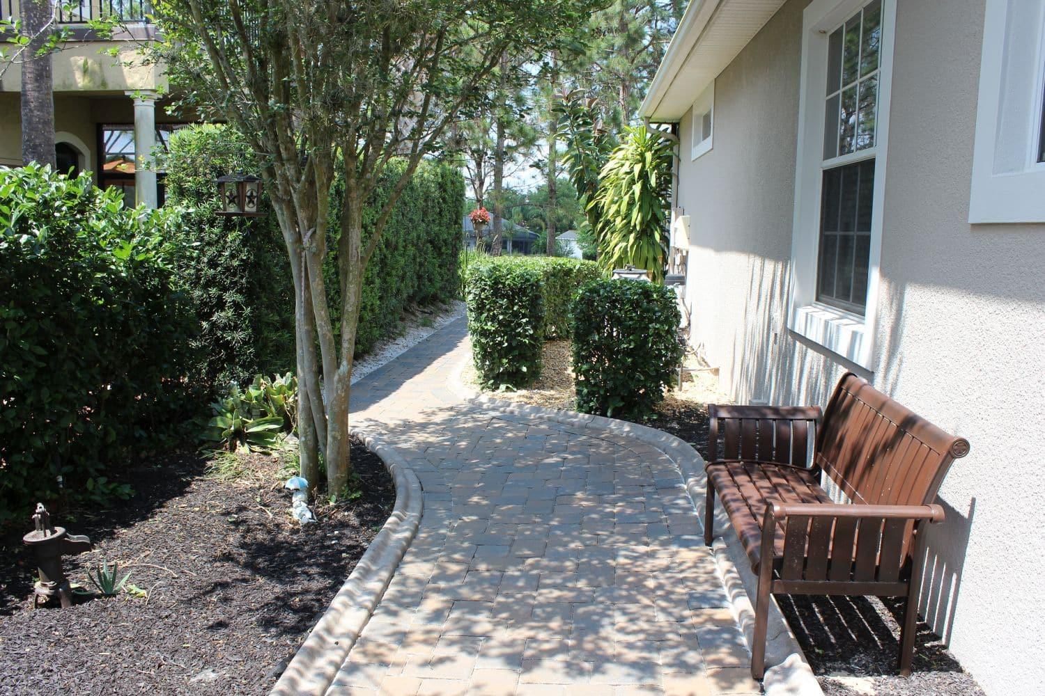 example of paver installation